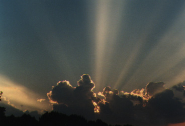 Image of Sunset and  Crepuscular rays